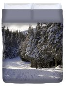 An Alpine Ski Trail On Wildcat Mountain Duvet Cover