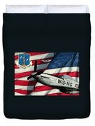 An American F-51 Ang Duvet Cover