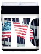An American Flag In New York. Duvet Cover