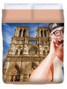 An American In Paris Notre Dame Duvet Cover
