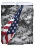 An American Winter Duvet Cover