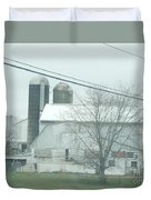 An Amish Barn In April Duvet Cover