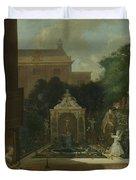 An Amsterdam Canal House Garden, 1745 Duvet Cover