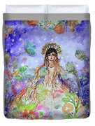 An Angel For All Of The Chakras And Her Name Is Simplicity Duvet Cover