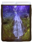 An Angel In The Falls  Duvet Cover