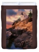 An Art Photograph Of  Bass Harbor Lighthouse,acadia Nat. Park Ma Duvet Cover