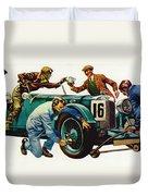 An Aston Martin Racing Car, Vintage 1932 Duvet Cover