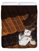 An Astronaut Anchored To A Foot Duvet Cover