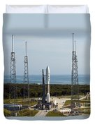An Atlas V-551 Launch Vehicle At Cape Duvet Cover