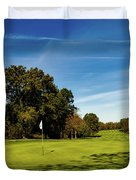 An Autumn Golf Day Duvet Cover