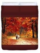 An Autumn Walk Duvet Cover