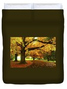 An Autumn Walk Through History Duvet Cover