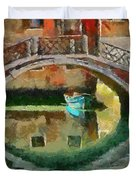 An Early Morning In Venice Duvet Cover