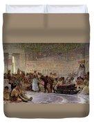 An Egyptian Feast Duvet Cover by Edwin Longsden Long