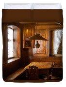 An Empty Table Duvet Cover