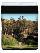 An Entrance To Peters Canyon Duvet Cover