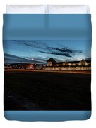An Evening At The Train Station Duvet Cover