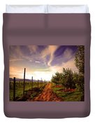 An Evening By The Orchard Duvet Cover