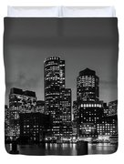 An Evening In Boston Duvet Cover