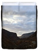 An Evening View Through A Valley In The Southwest Foothills Of The Sierra Nevadas Duvet Cover