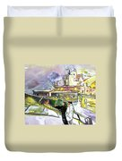 An Exotic Guest In Spain Duvet Cover