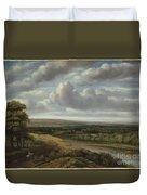 An Extensive Wooded Landscape Duvet Cover