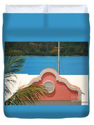 An Eye Brow Roof At Grotto Bay Duvet Cover