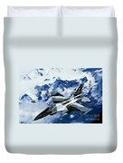 An F-15c Falcon From The 18th Aggressor Duvet Cover