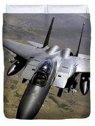An F-15e Strike Eagle Aircraft Duvet Cover