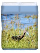 An Ibis In The Grass Duvet Cover