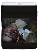 An Injured Patient Receives Medical Duvet Cover