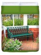 An Inviting Bench Duvet Cover