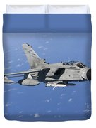 An Italian Air Force Tornado Ids Armed Duvet Cover