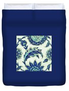 An Iznik Blue And White Pottery Tile, Turkey, 17th Century, By Adam Asar, No 18b Duvet Cover