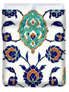 An Iznik Polychrome Tile, Turkey, Circa 1575, By Adam Asar, No 23h Duvet Cover