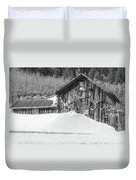 An Obdurate Sinner Lives Here. B And W   Duvet Cover