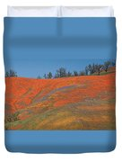 An Ocean Of Orange On The Mountain Top Duvet Cover