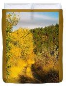 An October Path   Duvet Cover