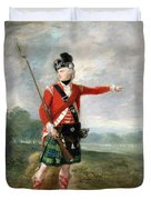 An Officer Of The Light Company Of The 73rd Highlanders Duvet Cover by Scottish School