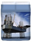 An Oil And Gas Drilling Platform Duvet Cover