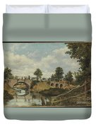 An Old Bridge At Hendon Duvet Cover