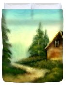 An Old Cabin In The Wild Duvet Cover
