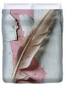 An Old Door And Feather Duvet Cover