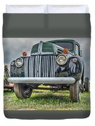 An Old Green Ford Truck Duvet Cover