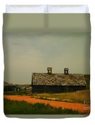 An Old Montana Barn Duvet Cover