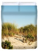 An Opening In The Fence - Jersey Shore Duvet Cover