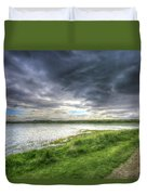 An Ordinary British Sky Duvet Cover