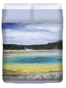 An Upper Geyser Basin At Chromatic Duvet Cover