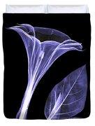 An X-ray Of A Datura Flower Duvet Cover