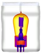 An X-ray Of Historic Audion Vacuum Tube Duvet Cover
